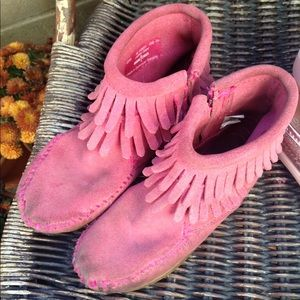 Girl's Size 10 Pink Moccasins